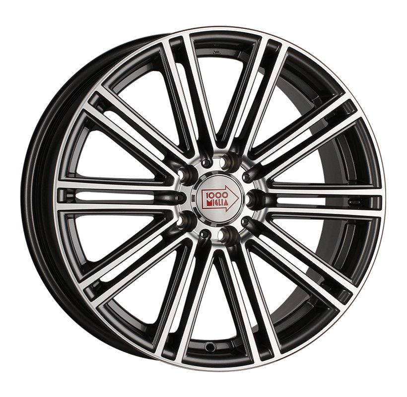 1000 Miglia MM1005 7.5x17 5x108 ET40 d63.3 dark anthracite polished