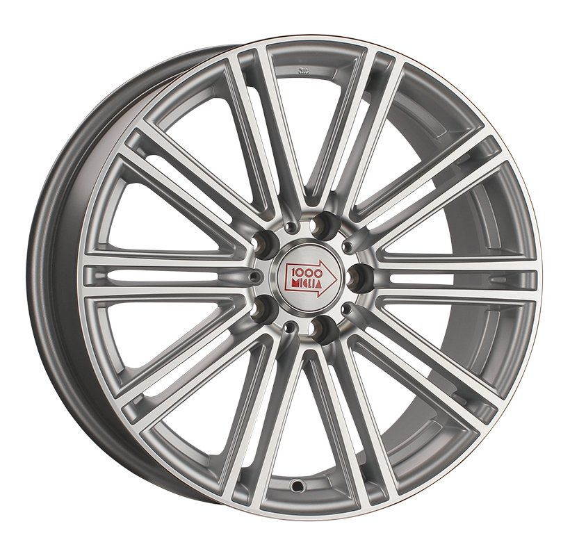 1000 Miglia MM1005 9.5Jx19 5x120 ET45 d72.6 matt silver polished