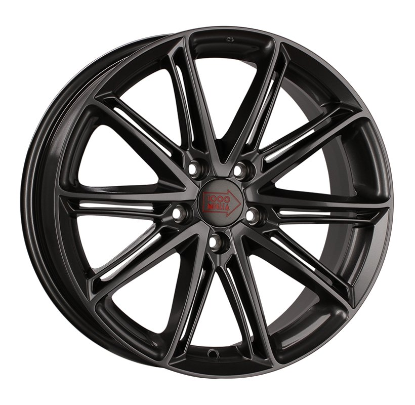 1000 Miglia MM1007 8x18 5x112 ET35 d66.6 dark anthracite high gloss