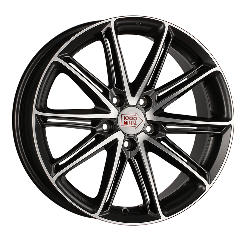 1000 Miglia MM1007 7.5x17 5x112 ET45 d66.6 dark anthracite polished