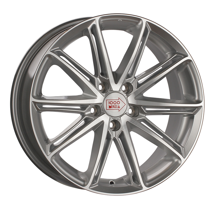 1000 Miglia MM1007 8.5Jx19 5x112 ET45 d66.6 silver gloss polished