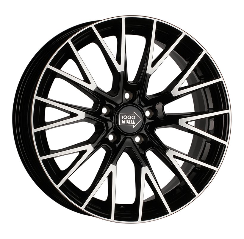 1000 Miglia MM1009 8x18 5x120 ET30 d72.6 gloss black polished