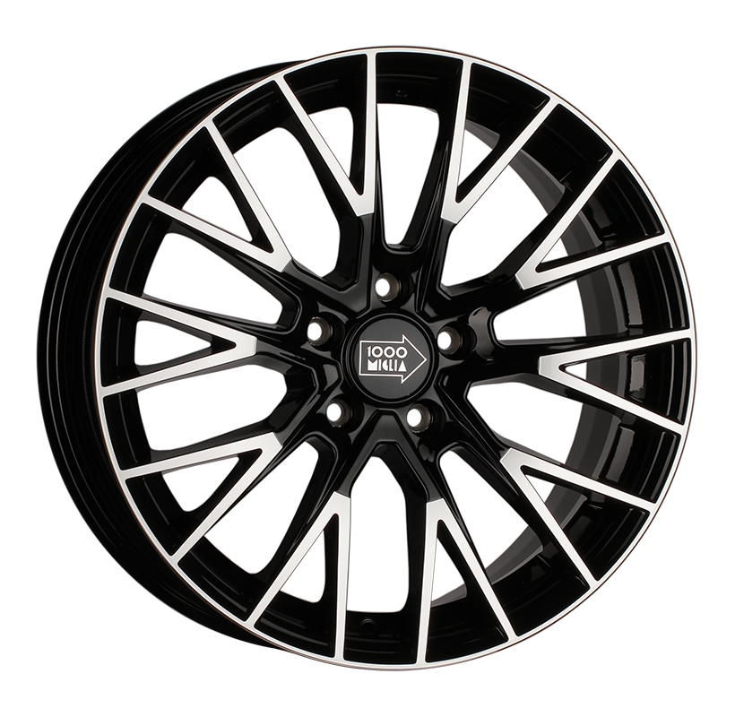 1000 Miglia MM1009 8x18 5x108 ET40 d63.3 gloss black polished