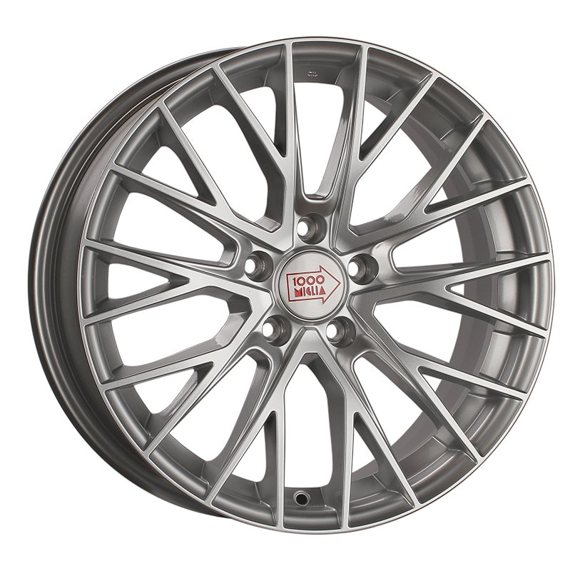 1000 Miglia MM1009 8x18 5x115 ET42 d70.1 silver high gloss