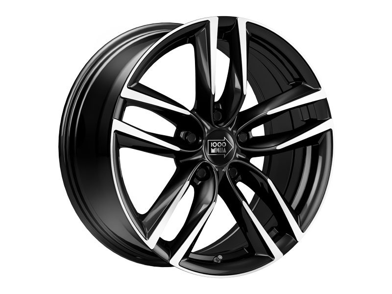 1000 Miglia MM1011 7.5x17 5x114.3 ET45 d67.1 gloss black polished
