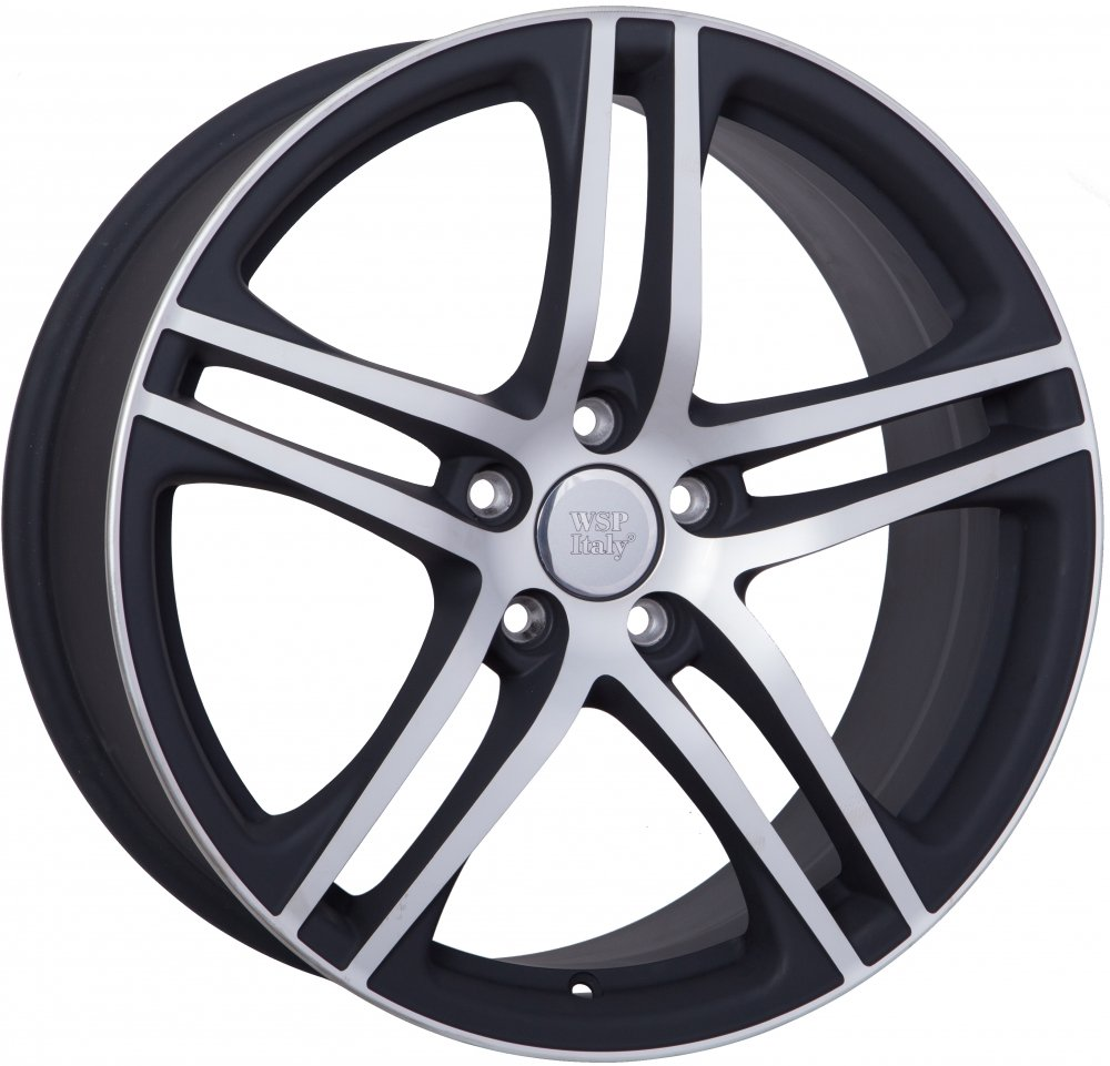 Acacia WSP Italy Audi (W556 Paul) 8.5x19 5x112 ET45 d57.1 dull black polished