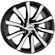 AEZ Reef 7.5x17 5/114.3 DIA 71.6 black polished