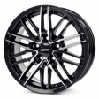 Alutec Burnside 7.5x17 5/100 DIA 57.1 diamond black - front polished