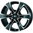 Alutec Dynamite 6 8.5x18 6/139.7 DIA 106.2 diamond-black front polished