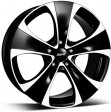 Alutec Dynamite 8.5x18 5/114.3 DIA 76.1 diamond-black front polished