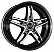 Alutec Poison 7x17 5/110 DIA 65.1 diamond-black front polished
