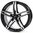 Alutec Poison 8x18 5/114.3 DIA 70.1 diamond black - front polished