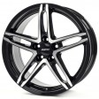 Alutec Poison 7x17 5/110 DIA 65.1 diamond black - front polished