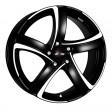 Alutec Shark 7x17 4/98 DIA 58.5 racing black front polished