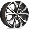 Alutec W10 9x20 5/112 DIA 70.1 racing black front polished