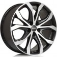 Alutec W10X 8x18 5/112 DIA 66.6 racing black front polished