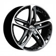 Antera 501 8.5x19 5/114.3 DIA 75 racing black front polished