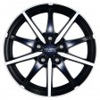 Anzio Racer 7x16 5/108 DIA 70.1 racing-black front polished