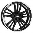 ATS Prazision 8.5x18 5/112 DIA 70.1 racing black double lip polish