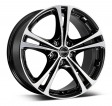 Borbet XL 7.5x17 5/108 DIA 72.6 black polished