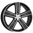 DEZENT TH dark 7.5x17 5/114.3 DIA 71.6 black polished