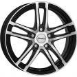 DEZENT TZ dark 6.5x16 5/114.3 DIA 71.6 black polished