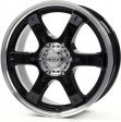DOTZ Crunch 8x17 5/114.3 DIA 71.6 black polished lip