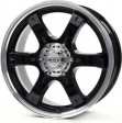DOTZ Crunch 8x17 6/139.7 DIA 106.2 black polished lip