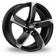 Fondmetal 7900 7.5x17 5/112 DIA 57.1 matt black polished
