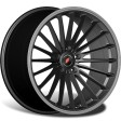 Inforged IFG36 8.5x20 5/112 DIA 66.6 black machined lip