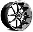 Lexani R12 8.5x20 5/114.3 DIA 74.1 Black/machined