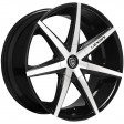Lexani R7 8.5x19 5/108 DIA 74.1 black / machined /K