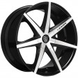 Lexani R7 8.5x19 5/112 DIA 74.1 black / machined /K
