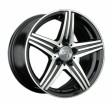Replica Mercedes MR121 7x16 5/112 DIA 66.6 BKF