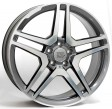 Replica Mercedes W759 AMG Vesuvio 8.5x18 5/112 DIA 66.6 anthracite polished