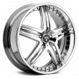 MHT Illusion 8.5x19 5/120 DIA 72.6 CHROME