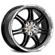 Momo Corse 7.5x17 5/108 DIA 72.3 glossy black polished