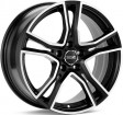 OZ Racing Adrenalina 8x18 5/108 DIA 75 matt black diamond cut