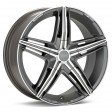 OZ Racing David 7x17 4/100 DIA 68 matt graphite diamond cut