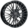 OZ Racing Ego 6.5x15 4/108 DIA 65.1 matt black diamond cut