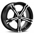 OZ Racing Power 7x17 4/108 DIA 75 matt black diamond cut