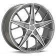 OZ Racing Quaranta 7.5x17 5/108 DIA 75 grigio corsa + diamond cut