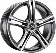 OZ Racing X5B 8x19 5/108 DIA 75 matt graphite diamond cut