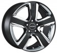 Radius RS015 8x18 5/112 DIA 75 Matt black polished