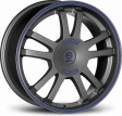 Sparco Rally 7x16 5/108 DIA 73.1 Matt silver tech blue lip