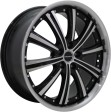 TGRacing LZ560 8.5x20 5/114.3 DIA 67.1 black polished