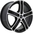 TGRacing TGD010 7x17 5/110 DIA 65.1 black polished