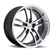 TSW Cadwell 8x17 5/114.3 DIA 76 gunmetal mirror cut face lip
