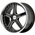 TSW Carthage 8x17 5/108 DIA 72.6 gloss black mirror lip