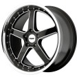TSW Carthage 8x19 5/108 DIA 72.6 gloss black mirror lip